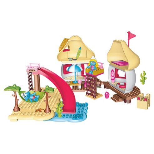 Mega Bloks The Smurfs Beach Playset