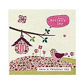Vintage Floral Birdhouse Mother's Day Card