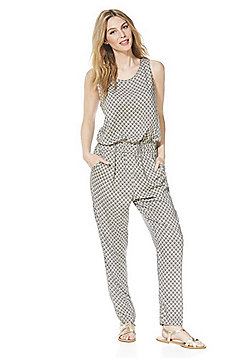 Vero Moda Fan Print Sleeveless Jumpsuit - Multi
