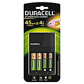 Duracell 4 Hour AA & AAA Battery Charger with 2 x AA Rechargeable Batteries