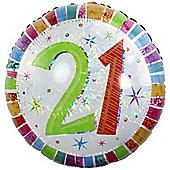 Radiant 21st Balloon - 18 inch Foil