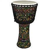 "World Rhythm 12"" Synthetic Green Djembe Drum"