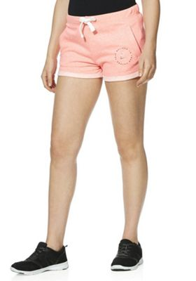 F&F Active Believe In Yourself Sweat Shorts Coral 18