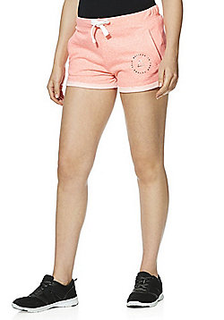 F&F Active Believe In Yourself Sweat Shorts - Coral