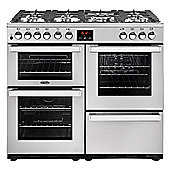 Belling Cookcentre - 1000mm Dual Fuel Range Cooker 7 Burners Inc WOK, Stainless Steel