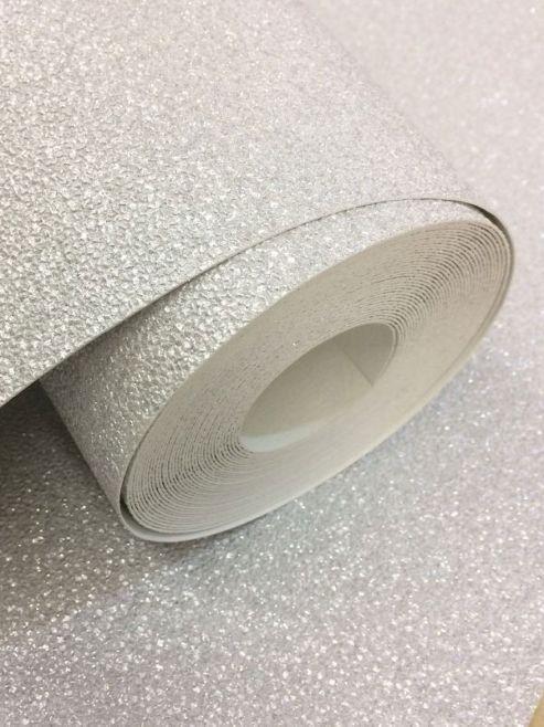 Carat Glitter Wallpaper - Silver - 13348-20