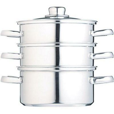 Kitchen Craft Clearview Stainless Steel Three Tier Steamer - 16cm