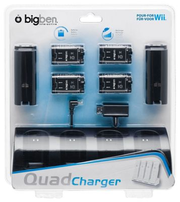 WII CHARGER AND BATTERY PACK (BLACK)