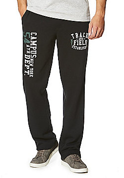F&F Collegiate Open Hem Joggers - Black
