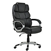 Halo Black Faux Leather Padded Office Chair