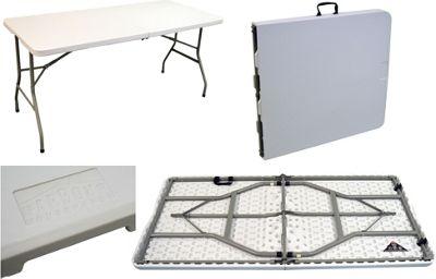 Harbour Housewares Folding, Events, Trestle Table   5ft Long. Foldable.