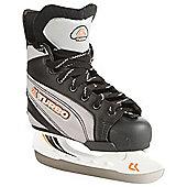 Xcess Turbo Adjustable Ice Skates - Black