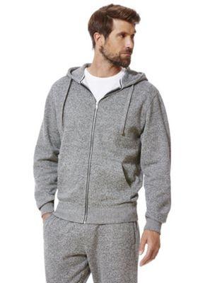 F&F Textured Marl Hoodie XXL Grey