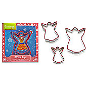 Cooksmart Stainless Steel Angel Cookie Cutters, Set of 3