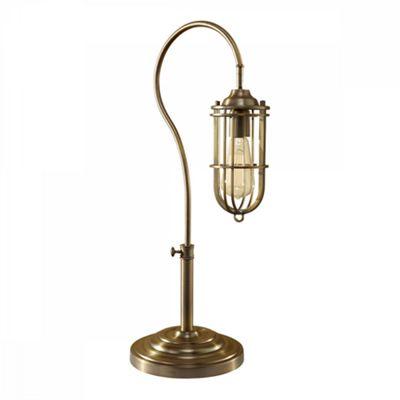 Dark Antique Brass 1lt Table Lamp - 1 x 60W E27