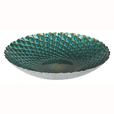 Teal & Coffee Patina Round Bowl Small