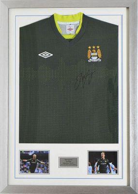 Signed Joe Hart Manchester City Goalkeeper Shirt