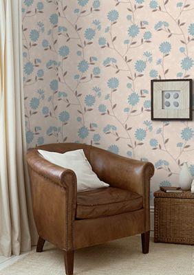 Superfresco Botanic Floral Teal Wallpaper