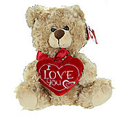 "8"" Soft Plush Teddy Bear Holding I Love You Heart Valentines Day Gift"