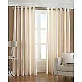 Riva Home Fiji Faux Silk Eyelet Curtains - Cream