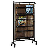Wide Kitchen / Magazine Rack Reclaimed Teak and Pipe
