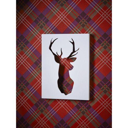 Fairburn Tartan Wallpaper Red/Plum - Arthouse 252705