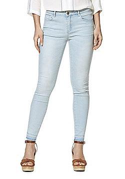 Vila Let-Down Hem Skinny Jeans - Light wash