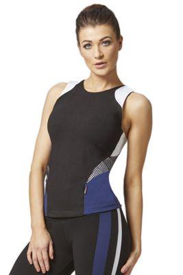 Challenge Sport T Back Gym Vest Black-Navy-White XL