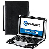 Navitech - Black Faux Leather Folio Case Cover Sleeve For The HP Pavilion 10 X2