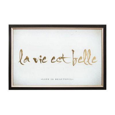 Art for Home La Vie Est Belle Metallic Framed art