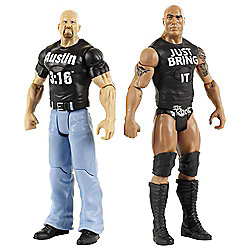 WWE Tough Talkers Match Pack- The Rock and Stone Cold Steve Austin Action Figures