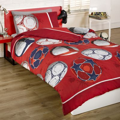 Football Single Duvet Cover and Pillowcase Set + Matching 54
