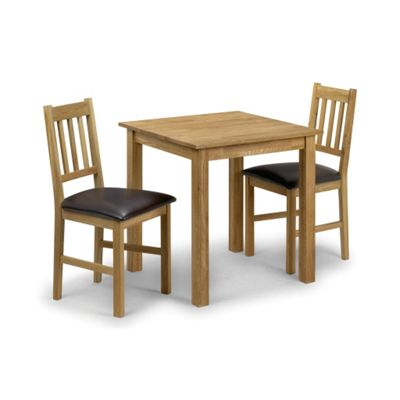 Solid American White Oak Dining Set - Table + 2 Chairs