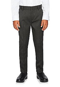 "F&F School Boys 2 Pack of Teflon EcoElite""™ Skinny Leg Trousers - Grey"