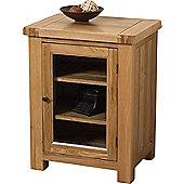 Cottage Solid Oak Hi-fi Media Storage Unit Cabinet Living Room Furniture