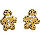 Girl's Gingerbread Man Stud Earrings