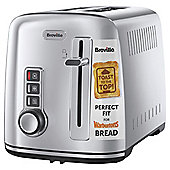 Breville VTT570 2 Slice Toaster for Warburtons Bread - Silver Stainless Steel