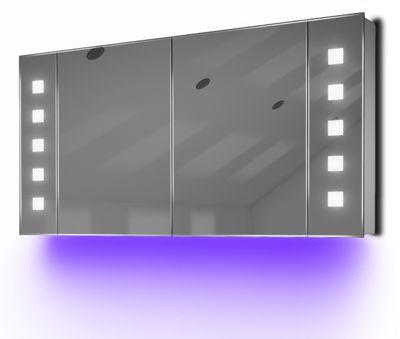Ambient Audio Demist Bathroom Cabinet With Bluetooth, Shaver & Sensor K124Uaud