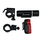 Black Widow NightRider Complete Bike Light Set. Alloy 3 Watt LED Front with 3 LED 0.5 Watt Rear.