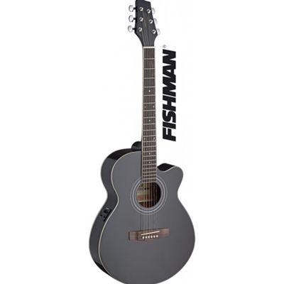Stagg SA40 Mini Jumbo Electro Acoustic - Black