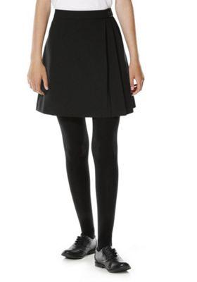 F&F School Buckle Detail Kilt Skirt 9-10 years Black
