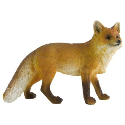 Realistic Polyresin Standing Red Fox Garden Statue Ornament