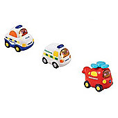 Vtech Toot Toot Bundle 1 X Police, 1 X Ambulance 1 X Helicopter