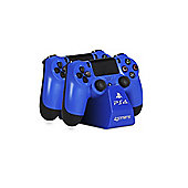 4GAMERS PS4 TWIN PLAY N CHARGE CABLES - BLUE