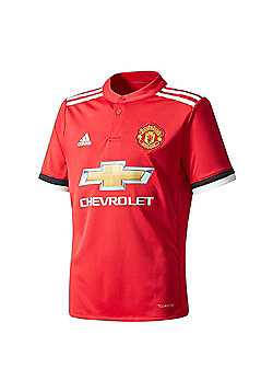 adidas Manchester United 2017/18 Kids Home Jersey Shirt Red - Red