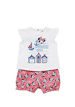Disney Minnie Mouse Nautical T-Shirt and Shorts Set - Pink