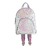 F&F Two Way Sequin Mini Backpack Lilac One Size