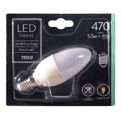 Bathroom Lights Tesco buy tesco led star candle 40w e14 small edison screw light bulb