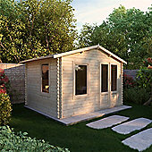 3.29m x 2.98m (11ft x 10ft) Sutton Value Apex Log Cabin - 19mm T&G Garden Cabin - Fast Delivery - Pick A Day
