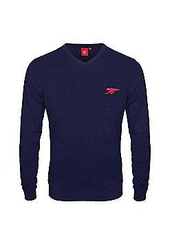Arsenal FC Mens Knitted Jumper - Navy